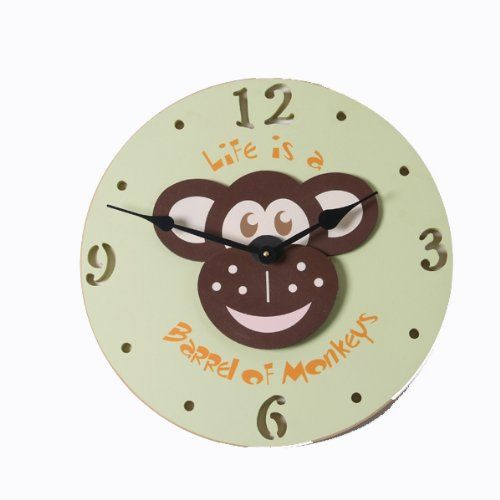Monkey Head Wall Clock Wall Clock Clock Clock For Kids