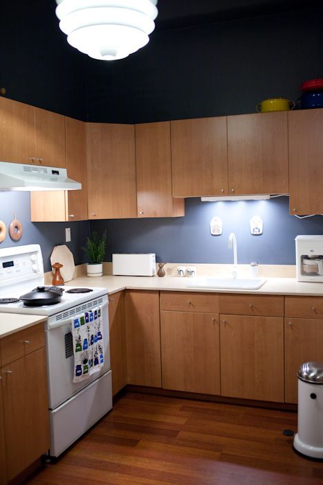 Home Reno At Kitka Design Toronto Blue Kitchen Cabinets Blue Kitchens Home Kitchens