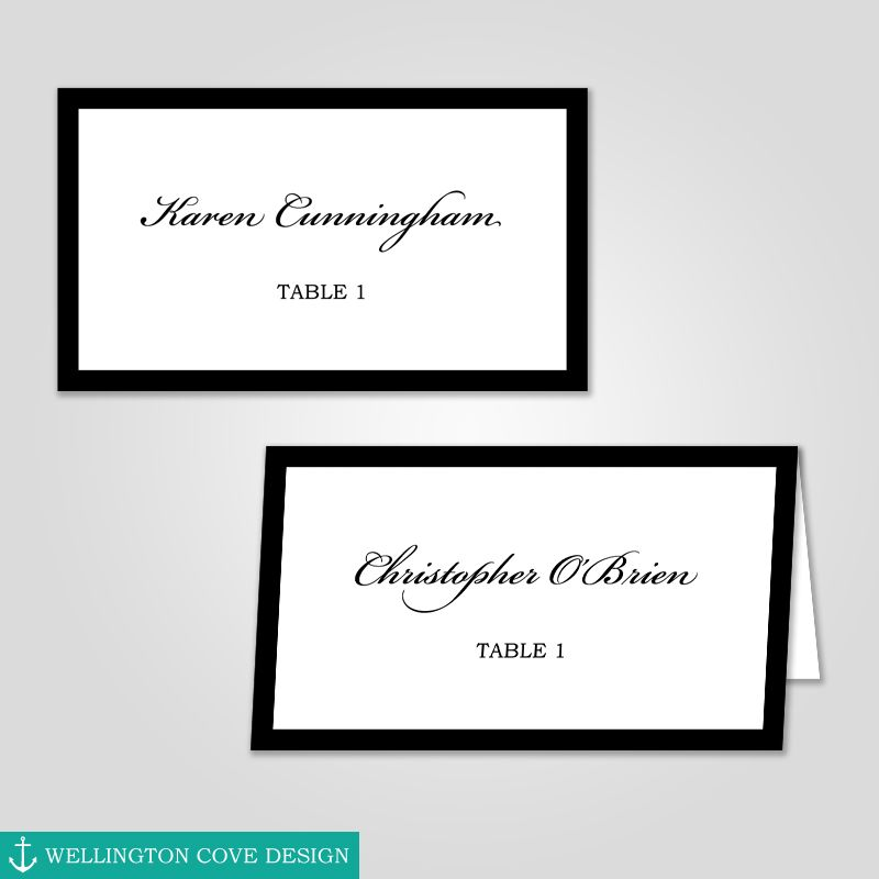 Wedding Place Cards Template For Microsoft Word Printable Etsy Wedding Place Cards Wedding Place Card Templates Card Templates Printable