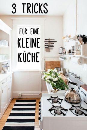 Kleine wohnküche einrichten  3 Tricks für mehr Platz: So genial kann man eine kleine Küche ...