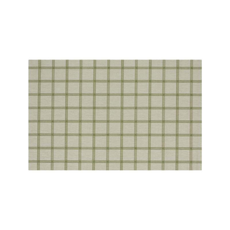Koen Grid Green Indoor-Outdoor 6'x9' Rug | Crate and Barrel