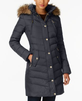 766c6a1d9 MICHAEL Michael Kors Faux-Fur-Trim Down Coat
