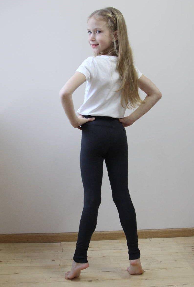Gray leggings for girls Organic leggings for girls