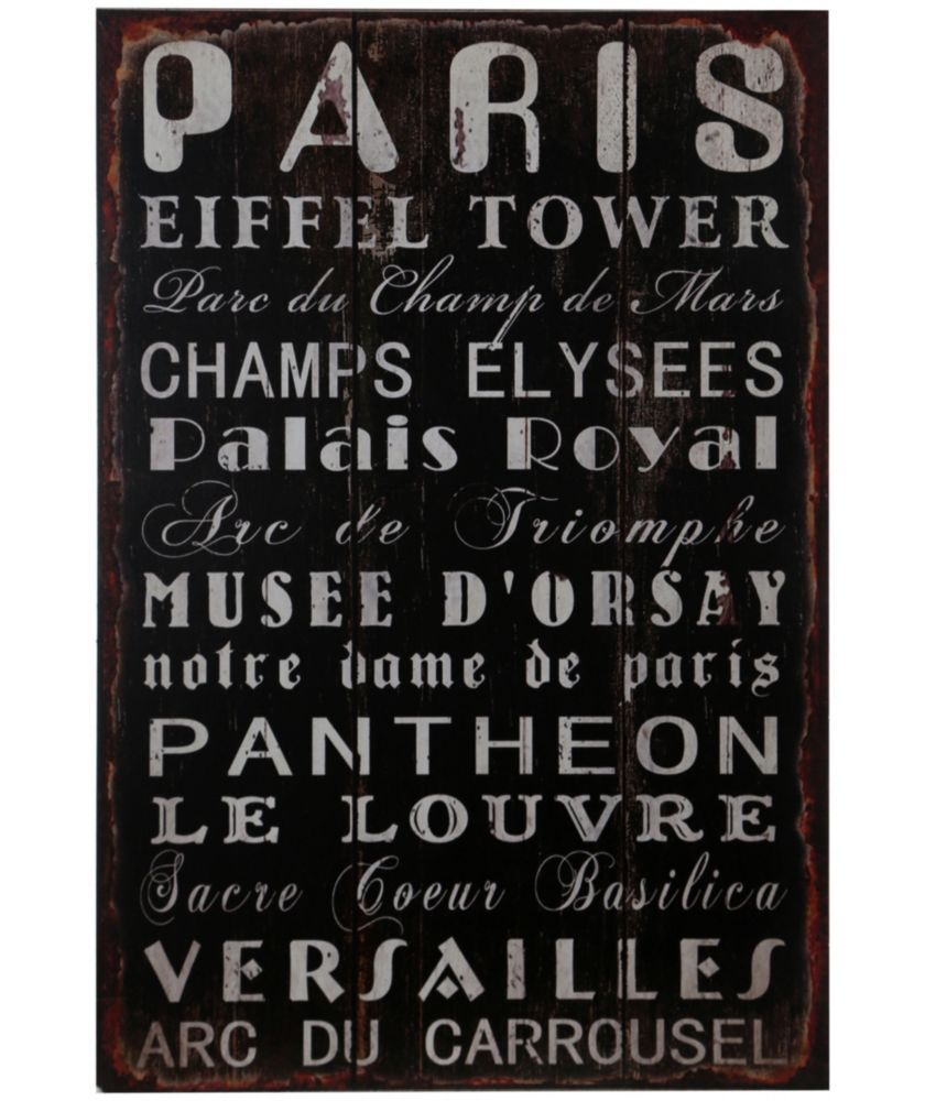 Buy Premier Housewares Paris Wall Plaque At Argos.co.uk   Your Online Shop