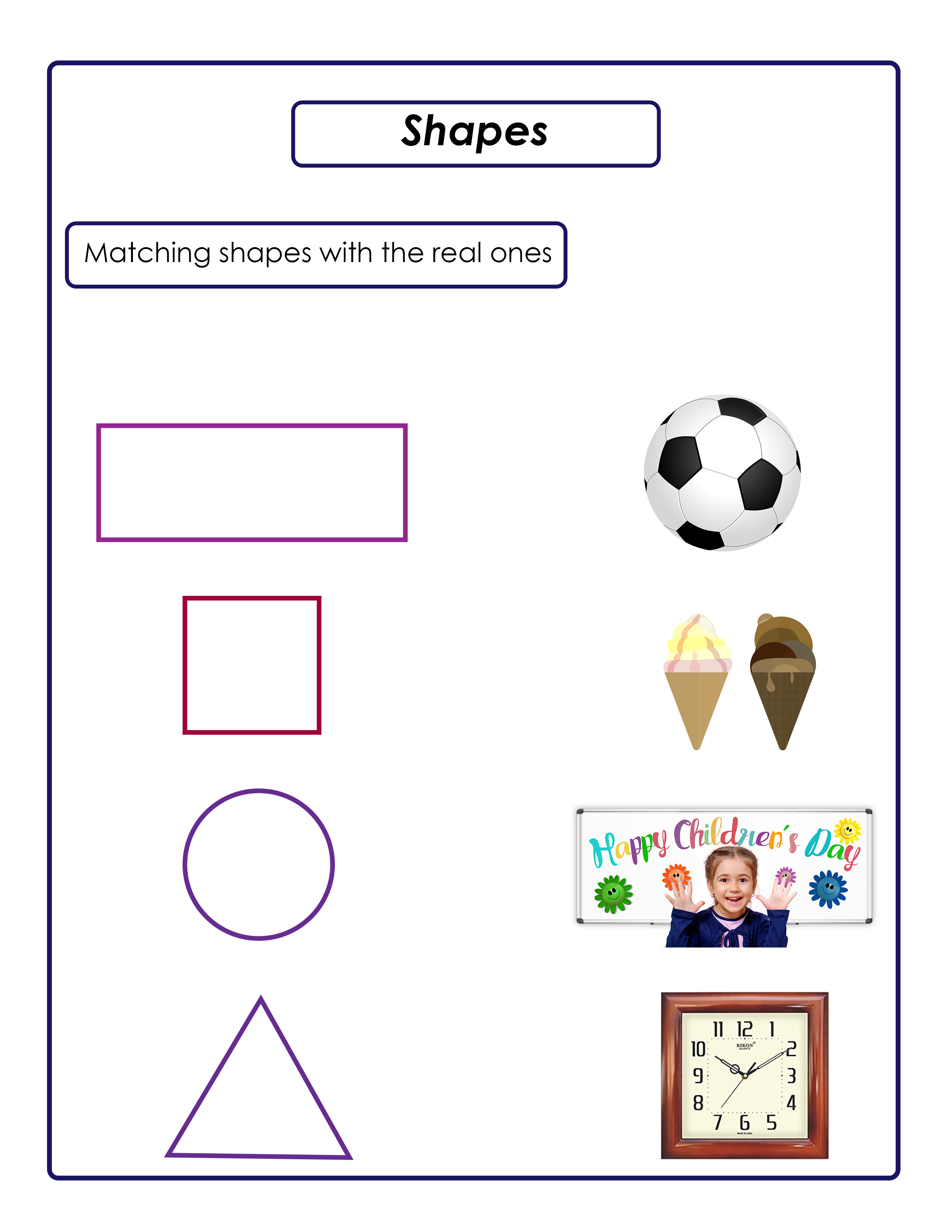 Pin by Kids Preschool Activities on worksheets Shape