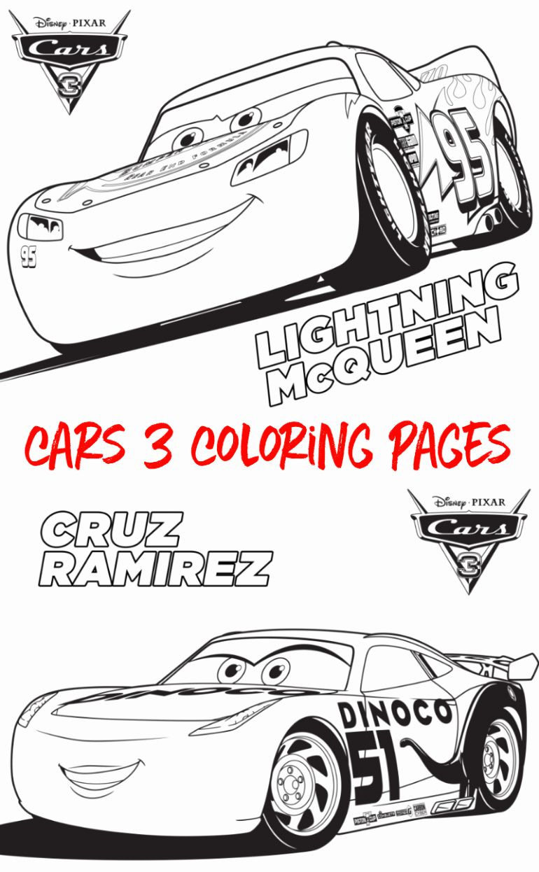 Coloring Pages Cars Movie Beautiful Free Cars 3 Coloring Sheets Cars3 Sunny Sweet Days