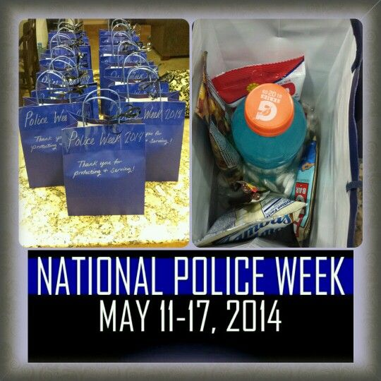 Goodie bags/Pinner: I made for my husbands department for National Police Week :)