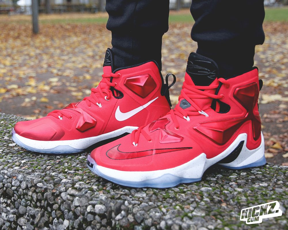 His new weapon is his signature shoe NIKE LEBRON XIII. Check out the  brand-new ON COURT colorway on-feet