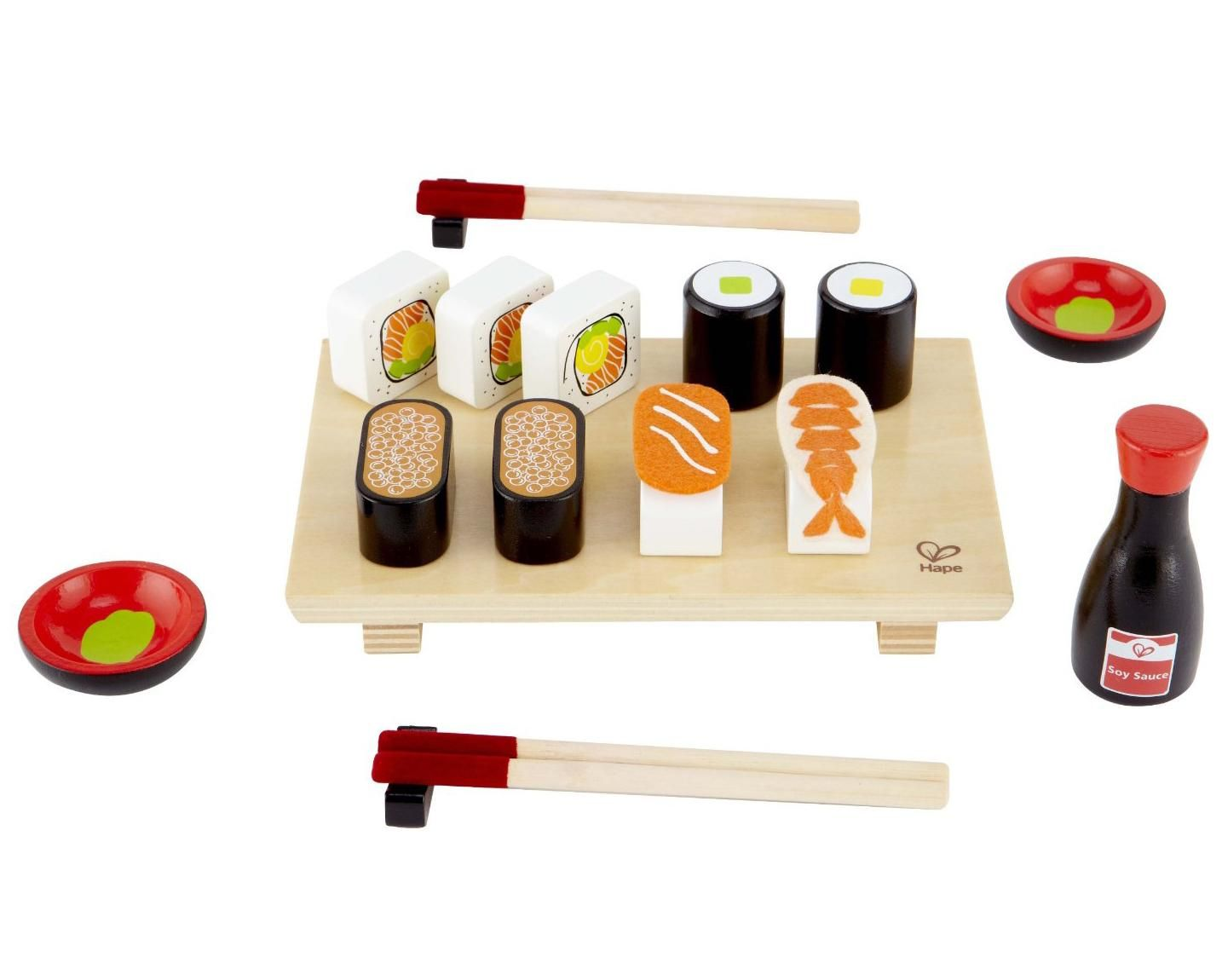 Hape Sushi Selection Kid\'s Wooden Play Kitchen Accessories and Food ...