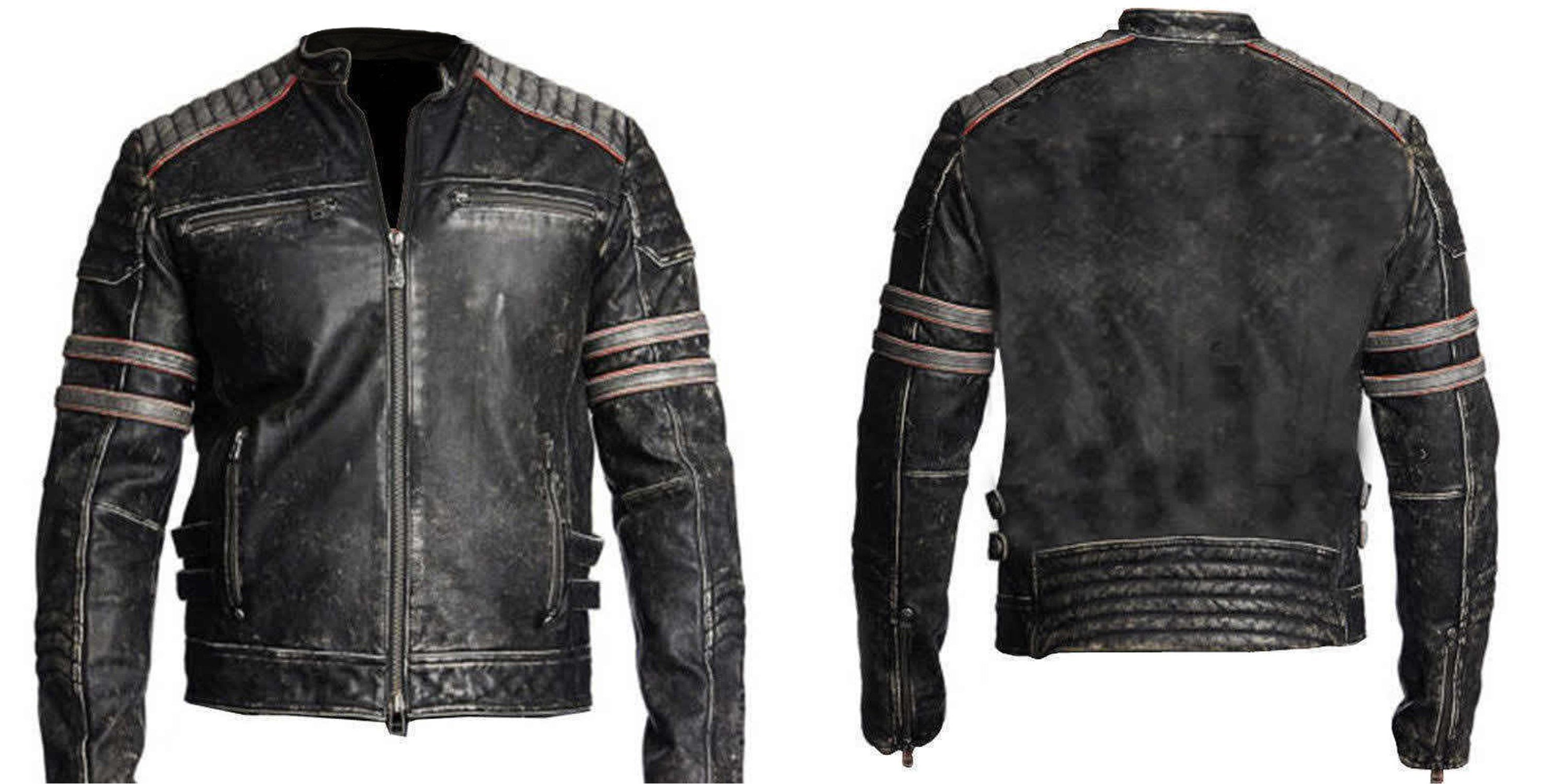 Leather jackets are the sexiest attire since long and men have adorned them with style. This Black retro jacket is made of goat distressed leather and is durable in all weathers. The standup collar and the large amount of pockets makes it a must buy as the pockets come in handy to put in your accessories.   #bikers #bikerboys #lovers #fans #boysfashion #boyscollection #menfashion #shopping #hot #sexy #stylish #costume #menclothing #menJacket #superhotfashion #parties #casual #menswear #love