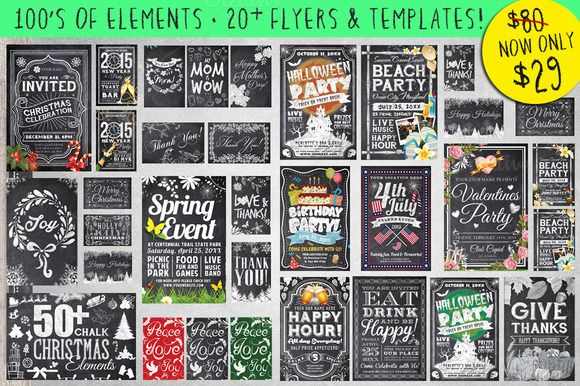 Mega Chalk Holiday Occasions Bundle by Lucion Creative on Creative Market