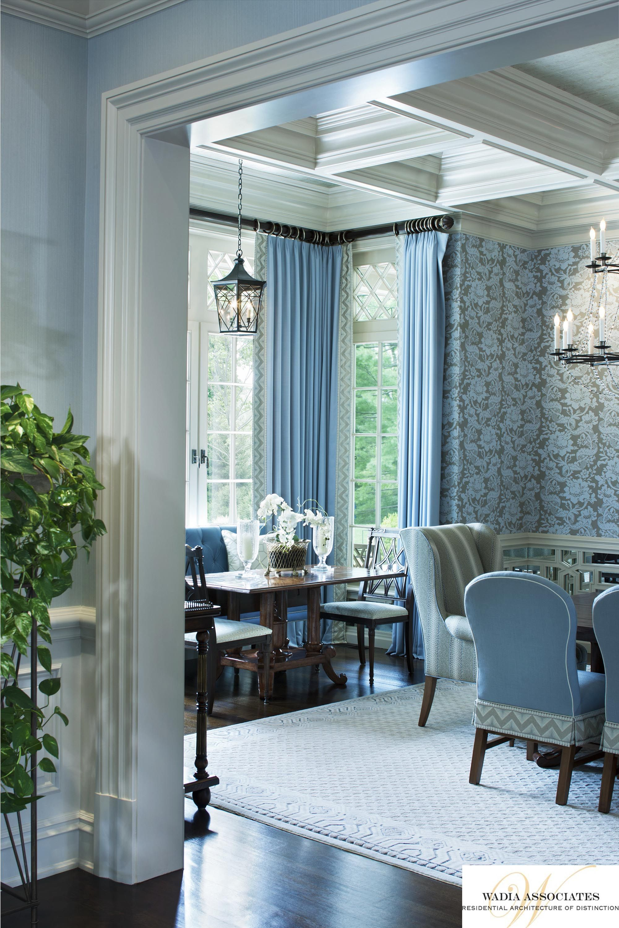 Blue and White Interior Architecture and Mouldings | Blue and White ...