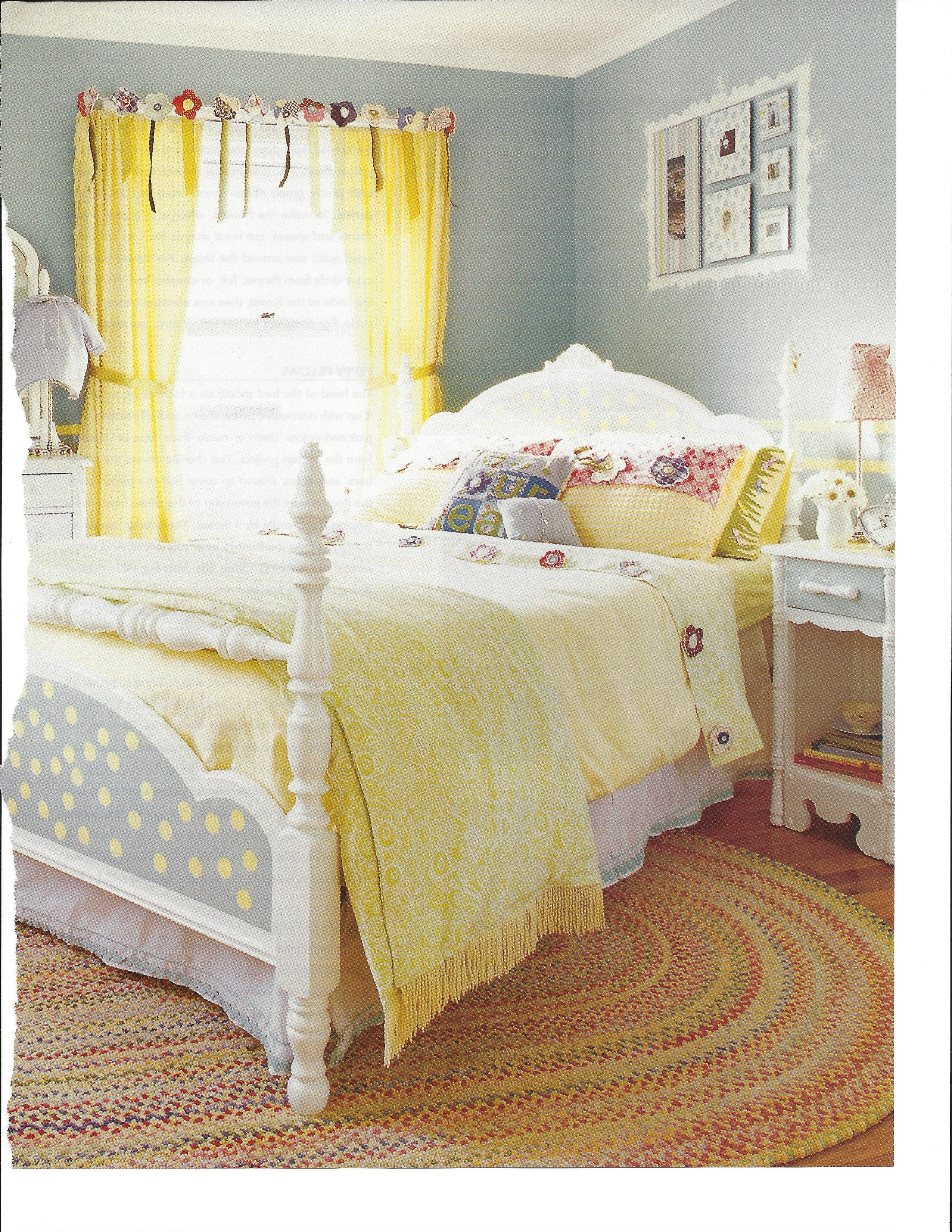 Curtains Made From Vintage Chenille Bedspread Quilted Flowers And