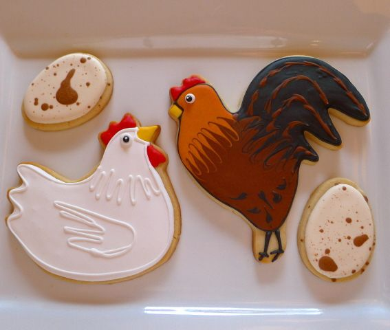 """Biscuit Pastry Fondant Baking Tools ROOSTER CHICKEN Cookie Cutter 4/"""""""