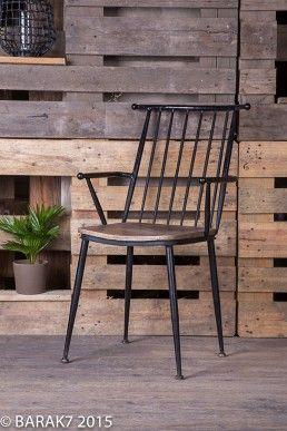Chaise Industrielle Bois Et Metal Industrial Chair Chair