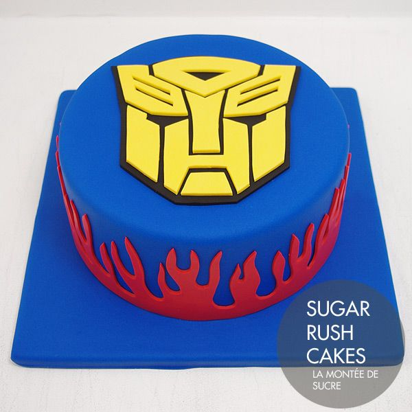 2699c39628f2 Transformers cake for eight