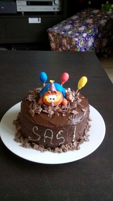 Tarta de chocolate con Garfield