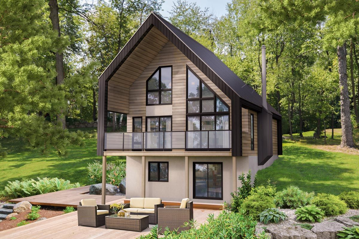Chalet-style Vacation Cottage - 80903pm Architectural