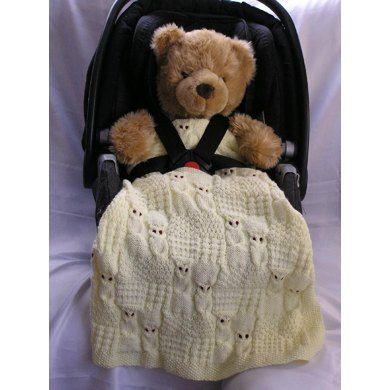 Wise Owl Blanket For Car Seat Stroller And Pram Car Seat Blanket