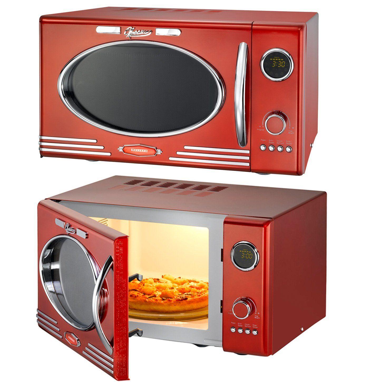 Melissa Classico Mikrowelle Rot Grill im Retro-Design, Grillfunktion ...