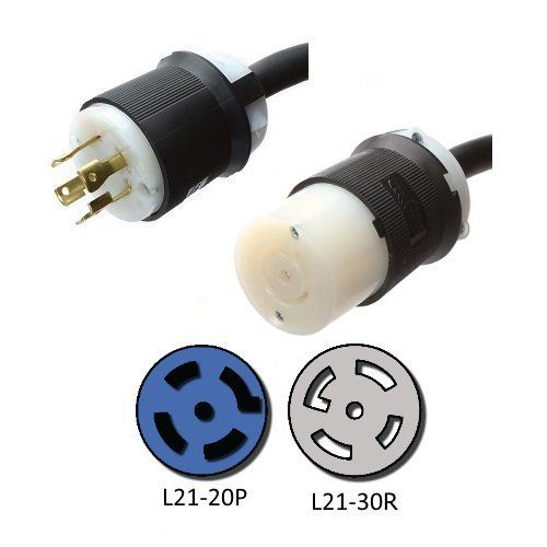 Nema L21 20p To L21 30r Plug Adapter 1 Foot 20a 208 3 Phase Iron Box Ibx 3242 Adapter Plug Plugs Power Cord