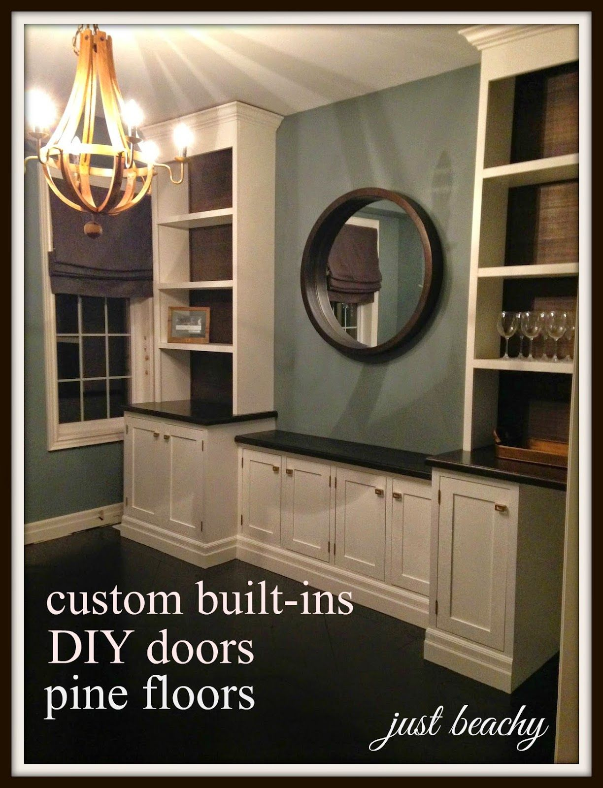 White Wood My Dining Room Makeover From Start To Finishbuilt Ins Floors DIY Doors