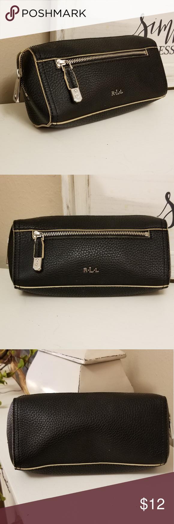 6b68edc62d6b Ralph Lauren cosmetic bag Ralph Lauren cosmetic bag black pebble grain  leather Ralph Lauren Bags Cosmetic Bags   Cases