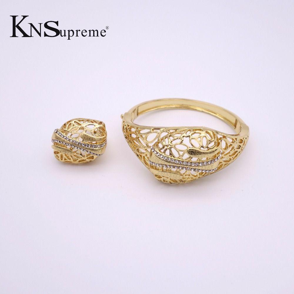 Fashion dubai african beads jewelry set k goldcolor crystal