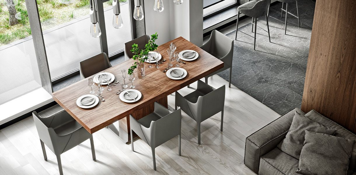 Palerma Extendable Dining Table Walnut In 2020 Extendable Dining Table Dining Table Dining