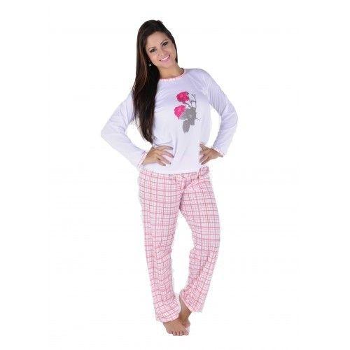 c175977fb Pijama Feminino Xadrex / Fabrica de Pijamas / Linha Noite ...