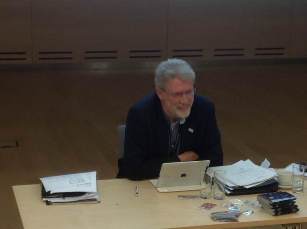 Klaus-Peter Böttger, (Germany, BID, Bibliothek & Information Deutschland) out-going EBLIDA President, in Riga, Latvia.