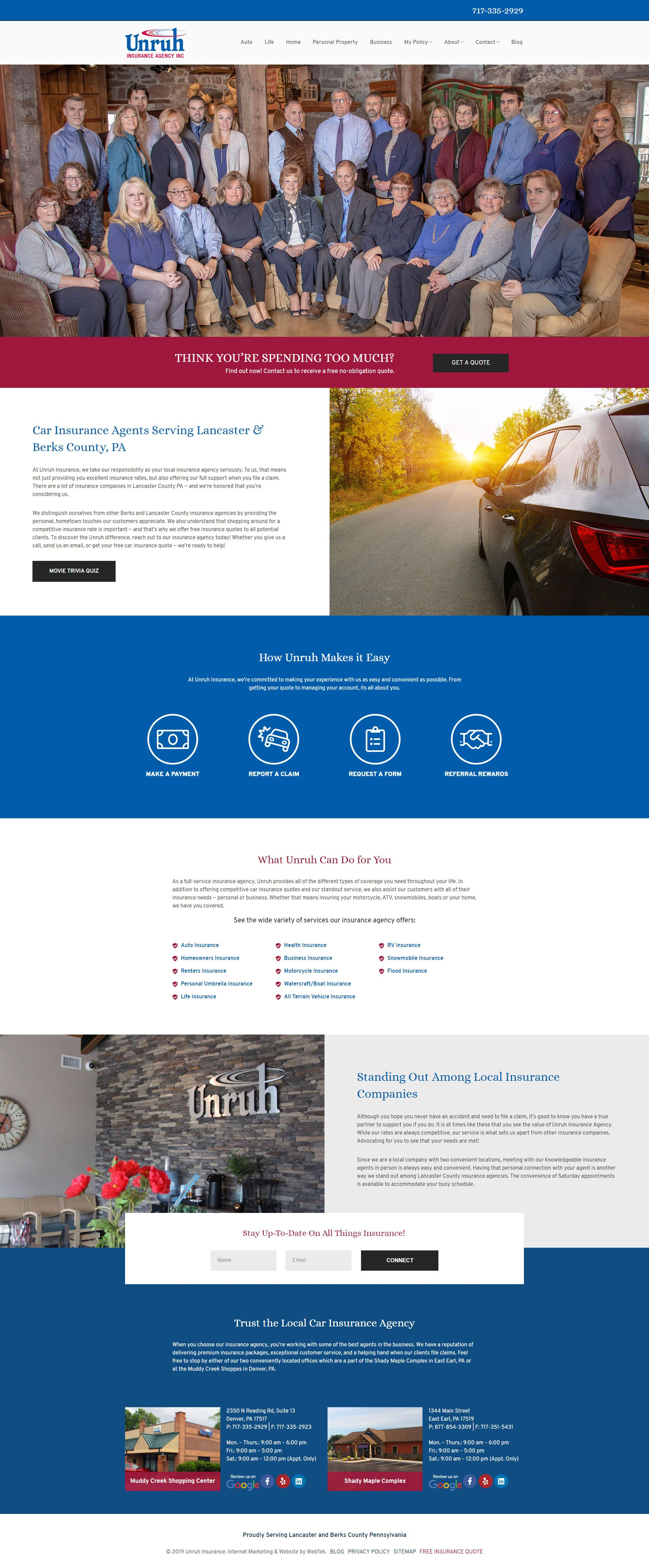 Web Design Denver Pa Web Design Website Design Inspiration Insurance Agency