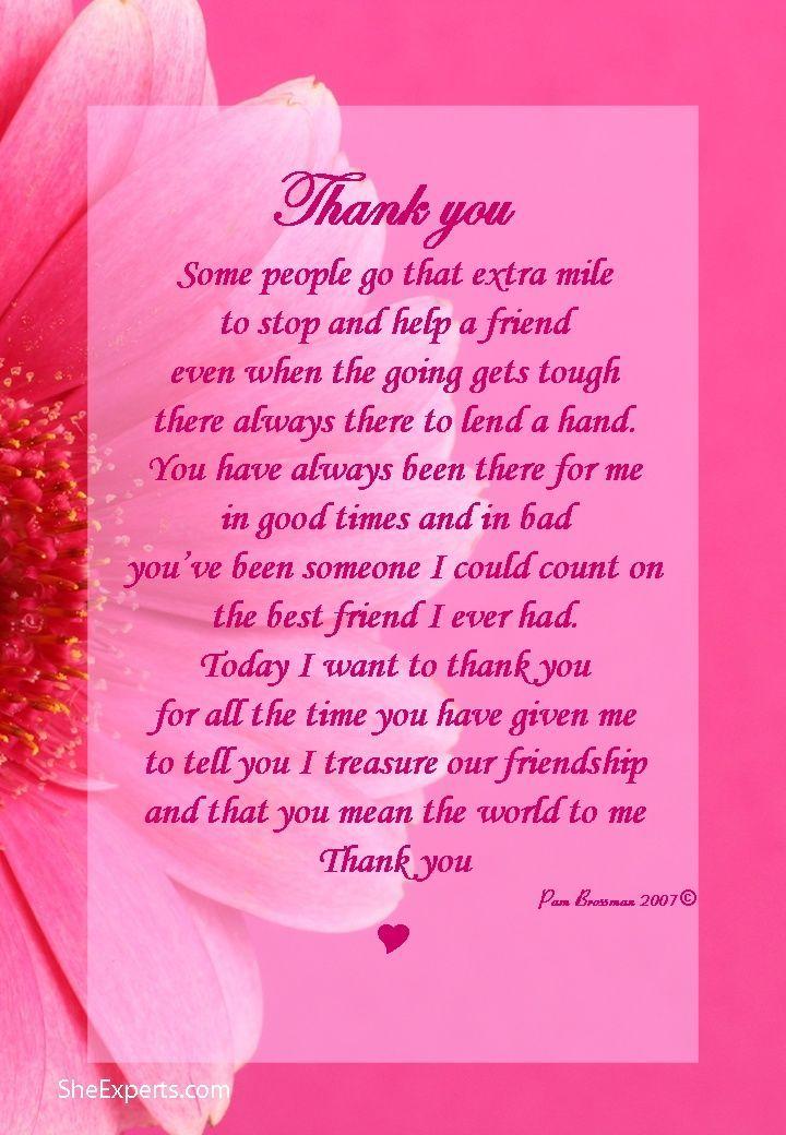 Thank You Friendship Quote Friend Friendship Quote Friend Quote Poem