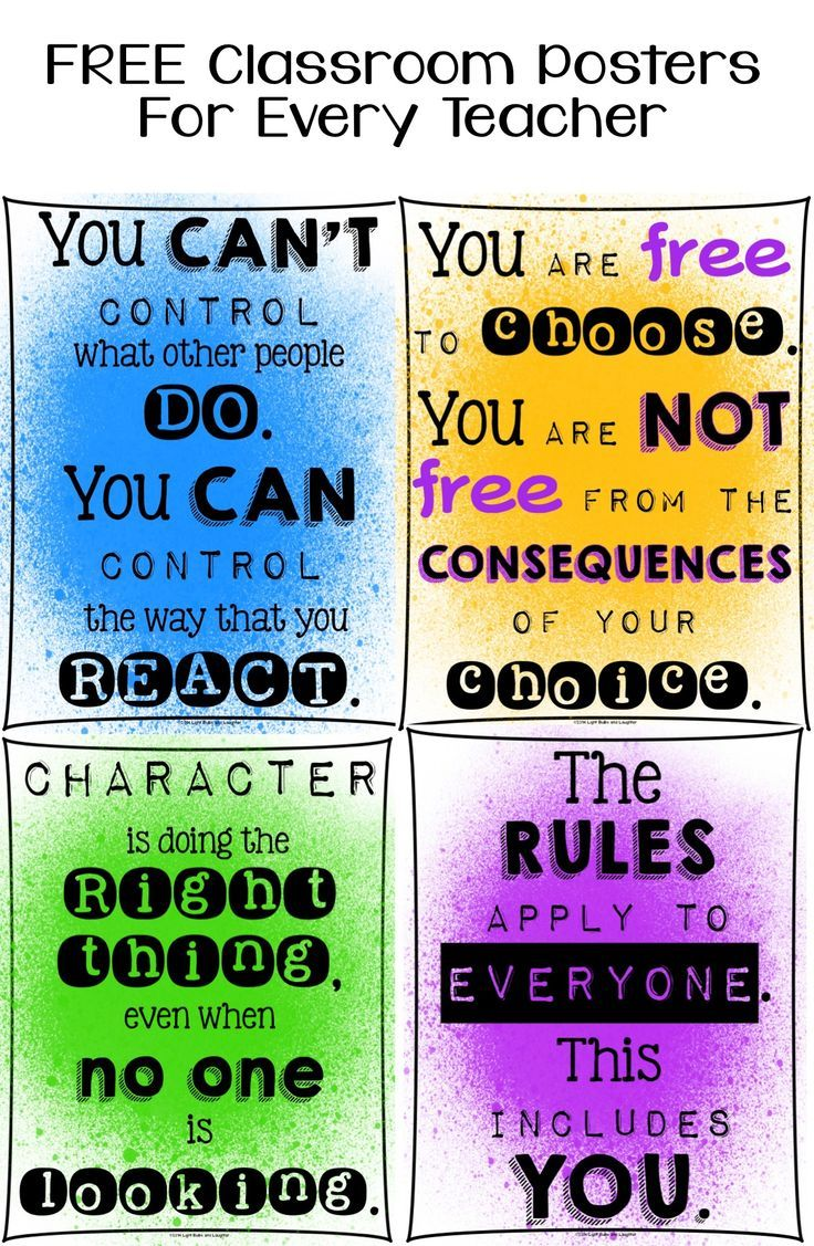free classroom posters for every teacher character education paint spatter colors or black and white