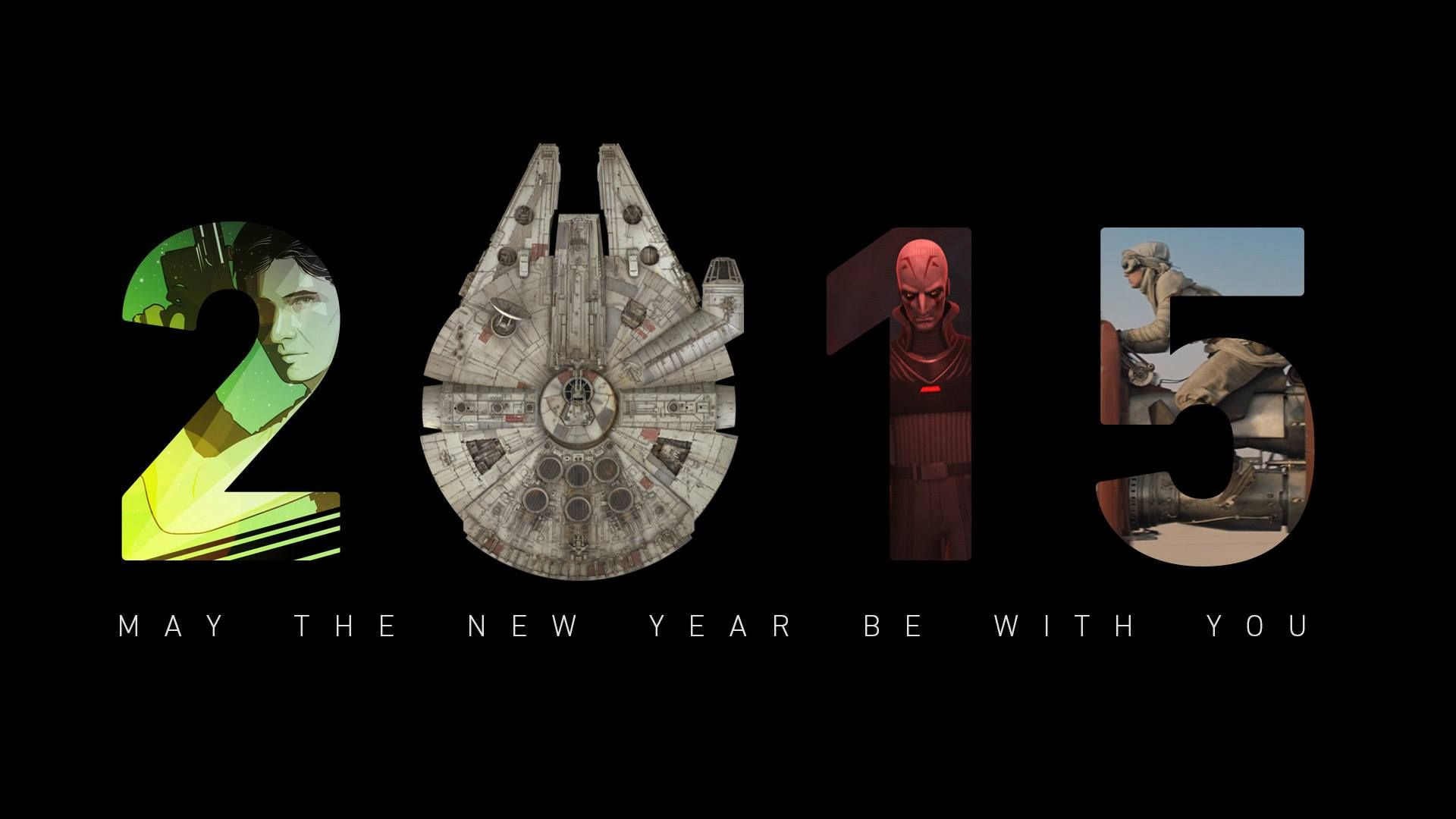 may the new year be with you. star wars 2015 poster | new year and
