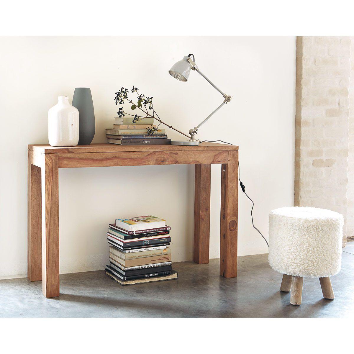 230 console maisons du monde stockholm 120x40 sheesham massif inde d co id es achat. Black Bedroom Furniture Sets. Home Design Ideas