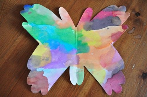 Toddler craft of the week hand shaped butterflies kids for Butterfly hands craft