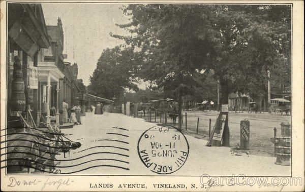 Landis township new jersey map 1930 | Landis Avenue Vineland New Jersey. Where Donald and family lived 1930's.