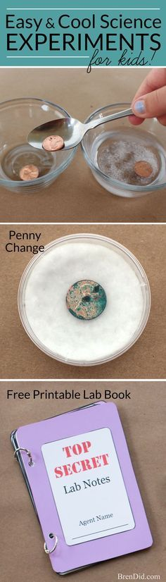 Penny Change Chemistry - Cool Science Experiments for Kids