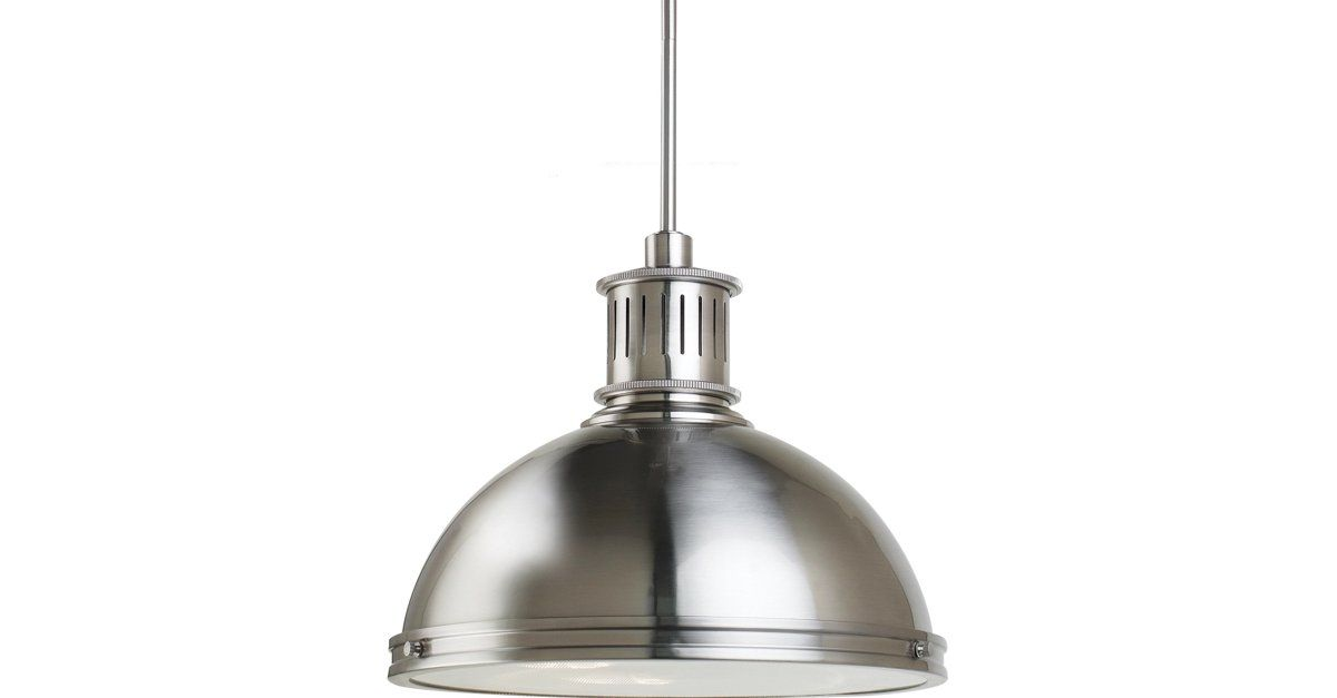 Plafoniere Industrial Style : Shining and striking this two light metal pendant will add an air
