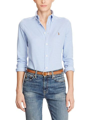 154b4f5b1a049 Knit Cotton Oxford Shirt - Polo Ralph Lauren Button Downs - RalphLauren.com