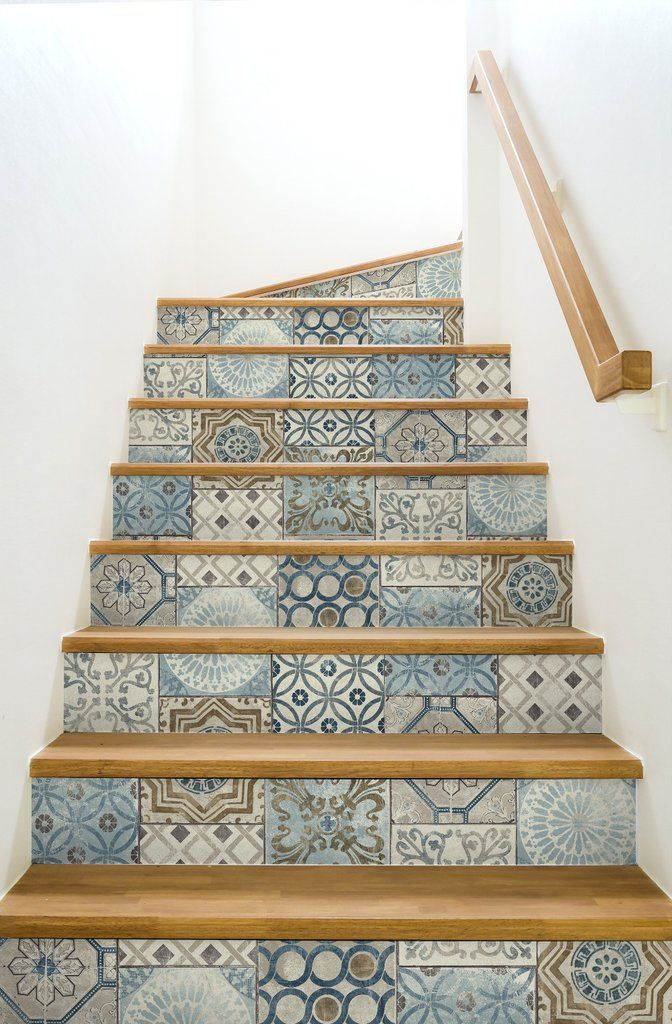 Photo of Moroccan Tile Peel-and-Stick Wallpaper in Neutrals and Greys by NextWa