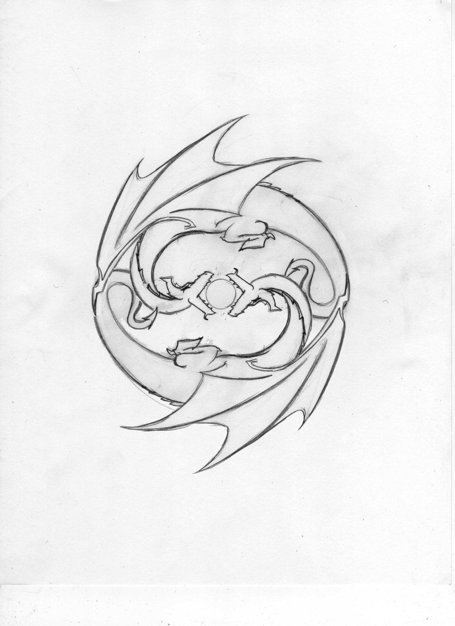 Earth Dragon Tattoo Designs Gemini Dragon Tattoo Design By Dragon Tattoo Designs Tribal Dragon Tattoos Dragon Tattoo