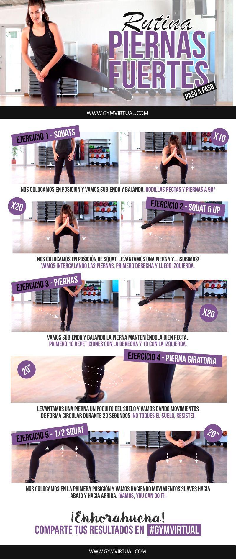 rutina de ejercicios fuertes para piernas