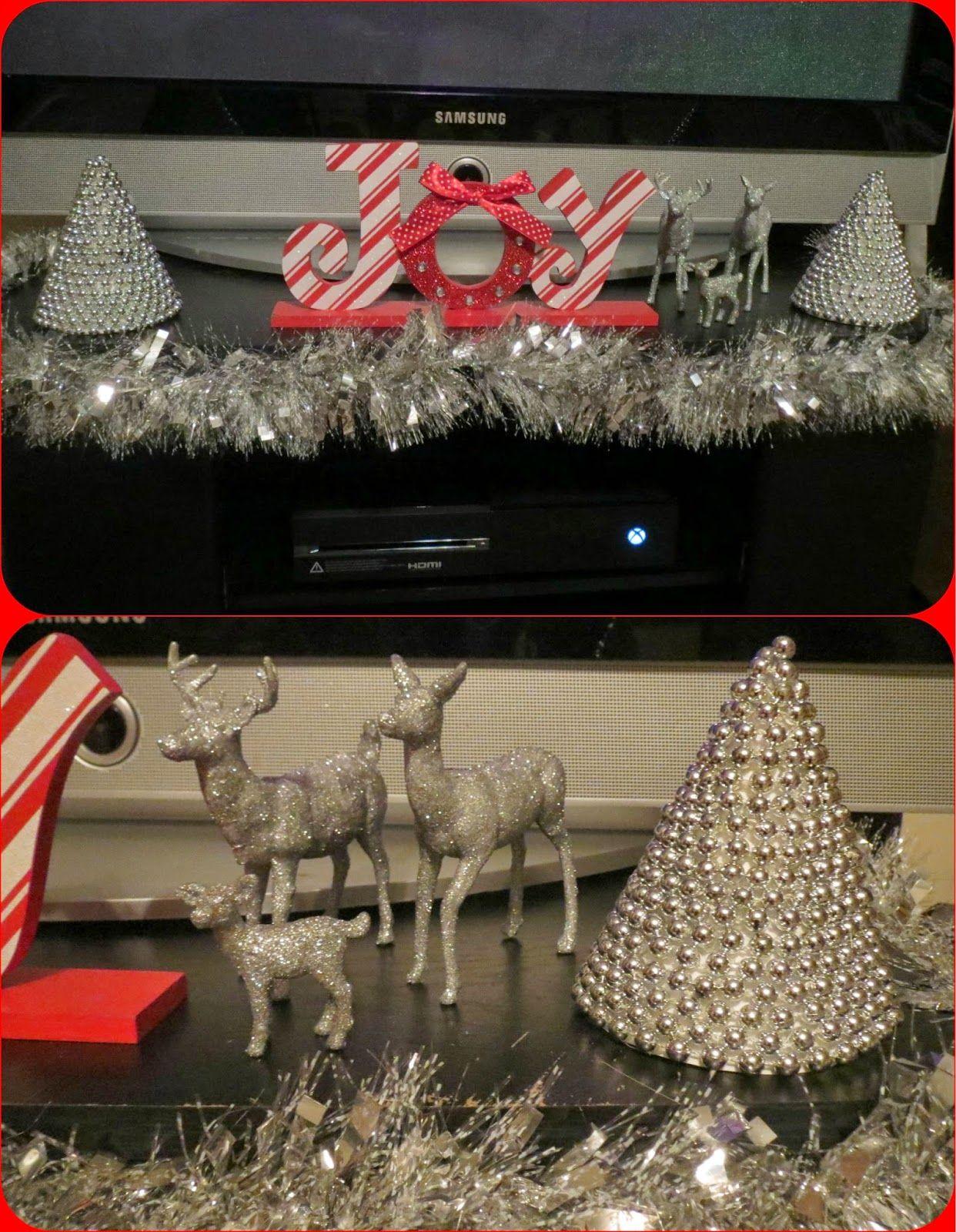 Mini Christmas Trees Glittery Reindeer