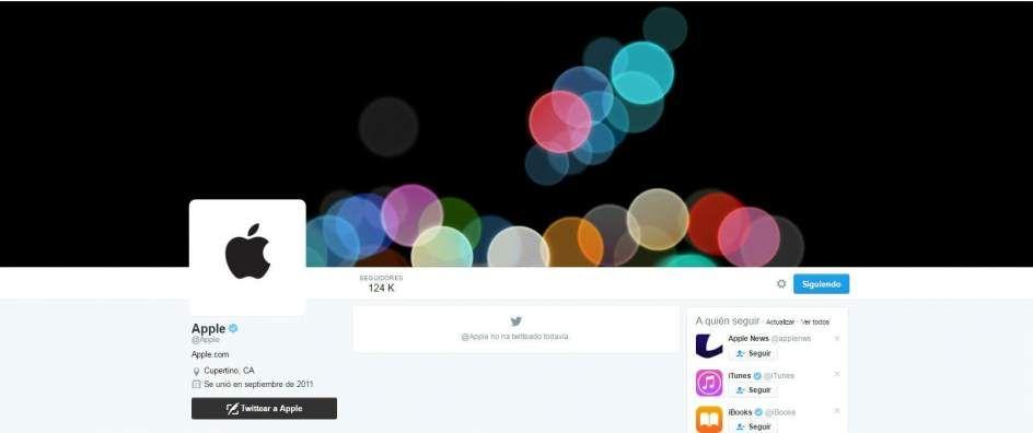 Apple activa su cuenta de Twitter dada de alta en el año 2011 pero inactiva hasta ahora https://t.co/NSGGeDPDBF
