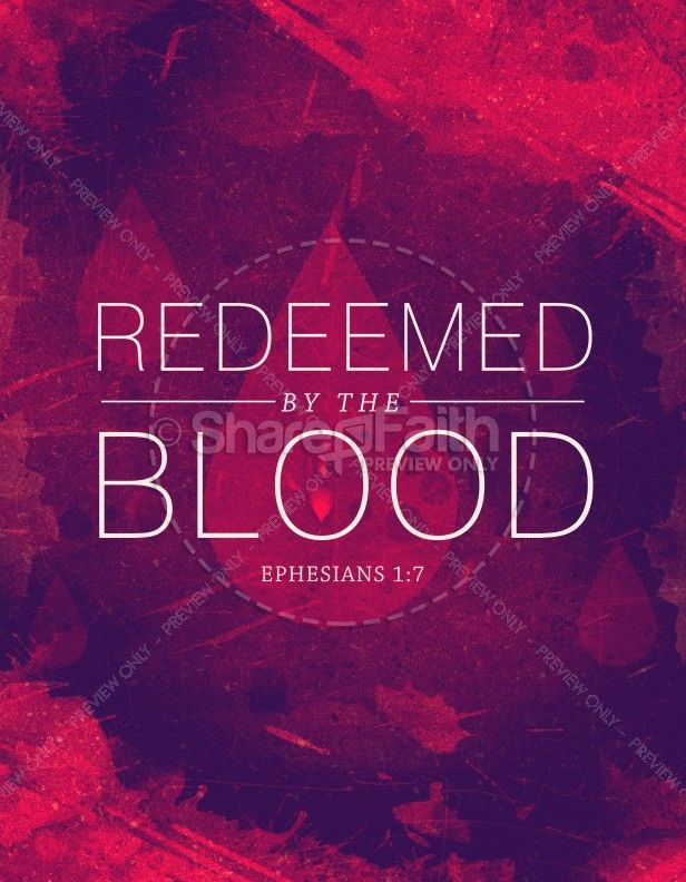 Redeemed By The Blood Religious Flyer Church Pinterest Flyer