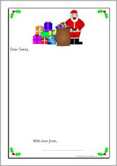 Letters to santa writing frames without lines sb10940 letters to santa writing frames without lines sb10940 sparklebox spiritdancerdesigns Gallery