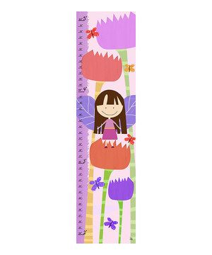 "10""x39"" Small sweethearts may be knee-high to a grasshopper now, but one day they aspire to be as tall as a tree! Track every precious inch of growth on this lovely and whimsical chart that features bright colors and stylized drawings to make it the most charming addition to the décor."