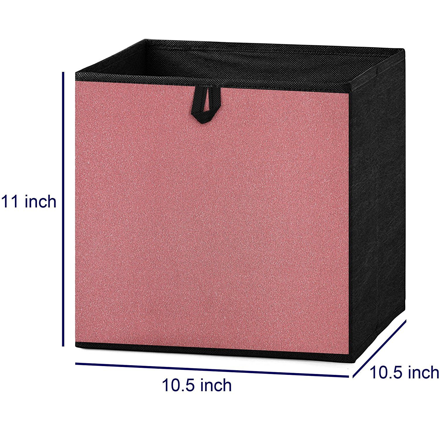 Amazon Com Foldable Storage Cube Bins Container Drawer Organizer Holographic Fabric 10 5 W X 10 5 D X 1 Drawer Organisers Cube Storage Holographic Fabric